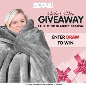 KLiKa.com.au – Win a luxurious double sided Laura Hill Mink blanket for Mum