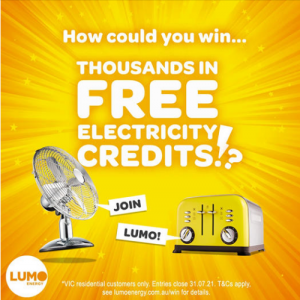 Lumo Energy – Win monthly prizes, weekly prizes and daily prizes