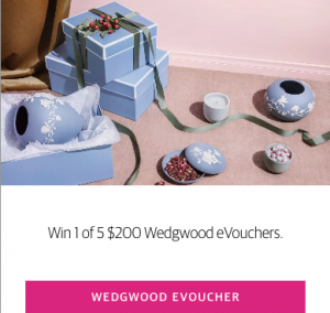 Nationwide News – Herald Sun Rewards – Win 1 of 5 Wedgwood eVouchers valued at $200 each to spoil mum this Mother's Day