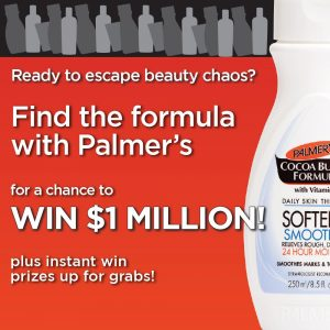 Palmer's Australia – Win a major prize valued up to AU$1 million OR 1 of 1,000 instant win prizes