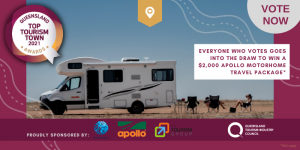 Queensland Tourism Industry Council – Vote to Win a $2,000 Apollo Motorhome travel package