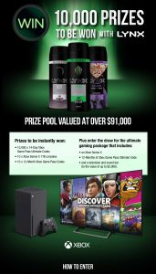 Unilever Australia – Lynx Gaming 2021 – Win a major prize of an Xbox package valued at $2,870 OR other thousands of instant win prizes