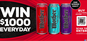 Mother Energy Drink – Win $1,000 a day