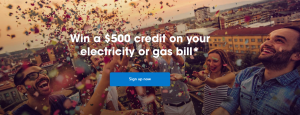 Alinta Energy – Sign Up to Win $500 credit on your electricity or gas bill
