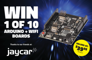 DIYODE Magazine – Win 1 of 10 Arduino Compatible Uno Boards with Wifi thanks to JayCar Electronics