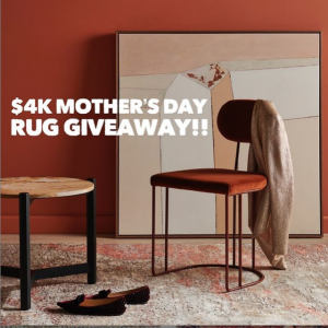 Hali Rugs – Win a $4,000 voucher to spend on rug for mum