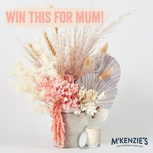 McKenzie's Foods – Win a Lillypad Flowers Vienna Everlasting Flowers in Vase PLUS one Ecoya Sweet Pea & Jasmine Scented Candle