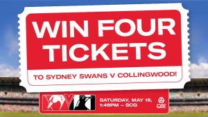 Nova 96.9 – Sydney Swans – Win tickets for 4 people to the Sydney Swans vs Collingwood game on 16 May