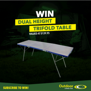 Outdoor Connection – Win a Dual Heigh Trifold Table