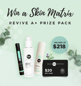 Skin Matrix – Win a Skin Matrix Revive A+ prize pack PLUS a $20 code to spend on Skin Matrix purchase