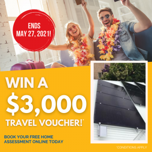 Solahart Sunshine Coast, Gympie and Caboolture – Win a $3,000 Aussie holiday