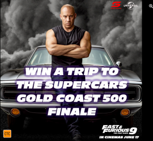 Universal Pictures – Win a major prize of a trip for 2 to the Boost Mobile Gold Coast 500 OR 1 of 5 minor prizes of a double pass to see the film
