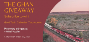 Australia & New Zealand Travel Co – Win a trip for 2 on The Ghan in a Gold Twin cabin