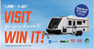 Australia Zoo – 2021 Winter Holiday Giveaway – Win a 2021 Regent Discoverer Family 3 bunk caravan with L shaped seating and 2 axles valued at $73,490 including on road costs