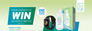 Bausch & Lomb – Win 1 of 61 Apple Smartwatch black Series 3 valued at $299 each