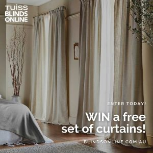 Blindsonline.com.au – Win a Free set of curtains of your choice
