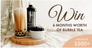 Bobabarista – Win 6 months worth of bubble tea