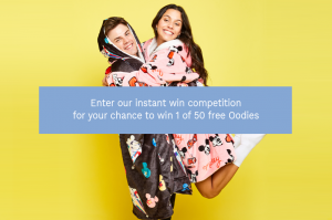 Davie Clothing – The Oodie's Winter Giveaway – Win 1 of 50 Oodie Wearable Blankets