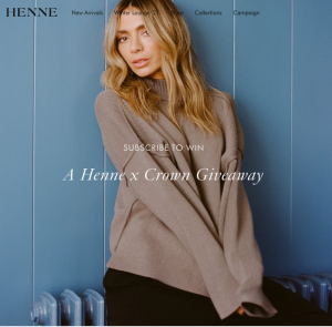 Henne – Win a prize pack valued at $1,750