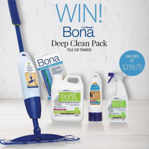 Howards Storage World – Win a Bona Deep Clean prize pack