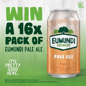 Lion – Beer, Spirits & Wine – Win 1 of 3 cases of Eumundi Pale Ale cans