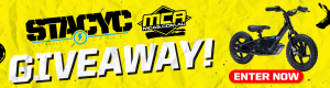 MCA Motorcycle Accessories Supermarket – Win your choice of a Stacyc 12 EDrive electric bike OR a Stacyc 16 EDrive electric bike