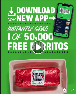 Mad Mex Fresh Mexican Grill – Win free Burritos for a Year