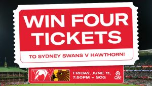 Nova 96.9 – Sydney Swans – Win tickets for 4 people to the Sydney Swans vs Hawthorn game