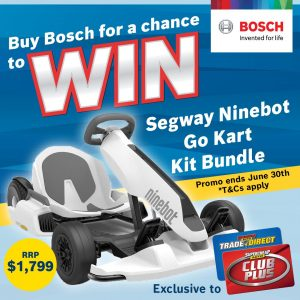 Supercheap Auto – Win 1 of 6 Segway Ninebot Electric Go Kart Kit bundles valued at $1,799 each