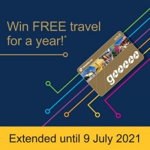 TransLink – Win 1 of 6 Golden Go cards with a year's free travel valid for 12 months