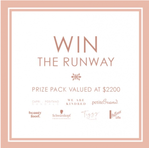 We are Kindred – Win The Runway prize pack valued at over $2,000