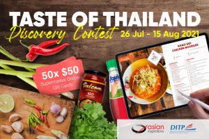 Asian Inspirations – Taste of Thailand Discovery – Win 1 of 50 Supermarket Grocery gift cards valued at $50 each