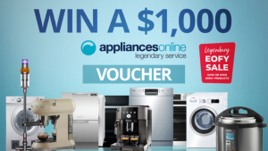 Channel Seven – Sunrise Family Newsletter – Win a $1,000 voucher to spend online at Appliances Online