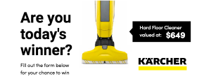 Choices Flooring – Purchase to Win a Karcher FC 5 Hard Floor Cleaner valued over $600
