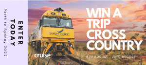 Imagine Holidays – Win a 3-night all-inclusive rail journey for 2 in a gold twin cabin on the Indian Pacific from Perth to Sydney
