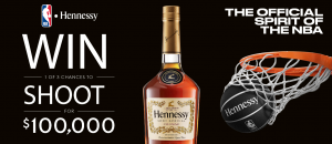 Moet Hennessy Australia – Win 1 of 3 opportunities to play a contingency game valued at $100,000 each OR 1 of 200 Hennessy merchandise prize packs valued at $100 each