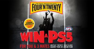 Patties Foods – Win a major prize of a game of Fortnite with 3 friends against an AFL Dream Team OR minor prizes of a Sherrin Football