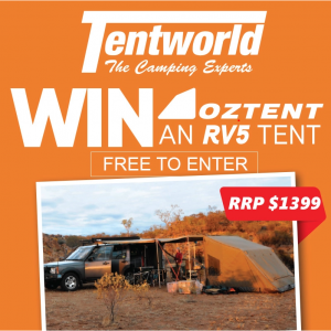 Tentworld – The Camping Experts – Win an Oztent RV5 Canvas Touring Tent