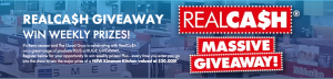The Good Guys – RealCash Giveaway – Win weekly prizes OR a major prize of a New Kinsman Kitchen