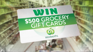 Today Show – Win 1 of 2 Woolworths Grocery gift cards valued at $500 each