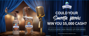 Triple M – Dairy Farmers Smooth Operator – Win a major prize of $5,000 cash OR 1 of 5 digital Visa cards valued at $500 each