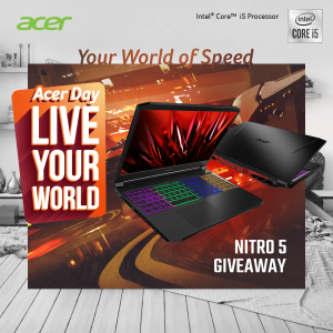 Acer Computer – Win an Acer Nitro 5, Intel Core i5, 8GB, Ram, 512GB SSD laptop valued at $1,399