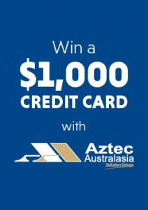 Aztec Australasia – Win 1 of 4 gift cards valued at $1,000 each