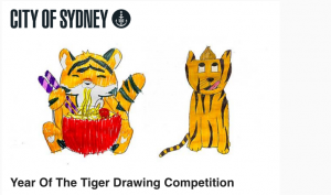 City of Sydney – Year of the Tiger drawing competition – Win 1 of 6 gift cards from Riot Art & Craft valued at $150 each