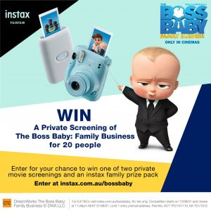 Fujifilm instax Australia – Win 1 of 2 private screenings to the movie PLUS an instax prize pack OR 1 of 20 family passes to see the film