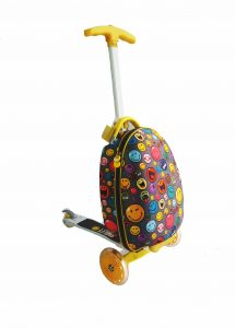 Global Travel Products – Win a ride-on luggage Smiley Scootie for your child