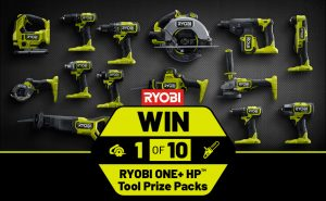 Network 10 – The Living Room – Win 1 of 10 Ryobi prize packs valued at $1,500 each