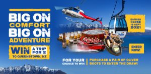 Oliver Boots – Win a trip for 2 to Queenstown, New Zealand