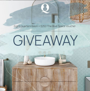 The Blue Space – Win a bathroom package valued over $500