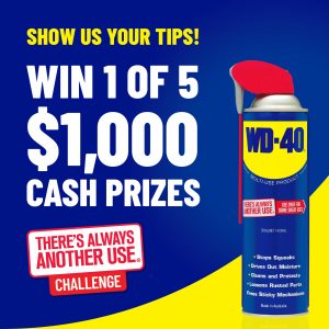 WD-40 Brand Australia – Win 1 of 5 cash prizes valued at $1,000